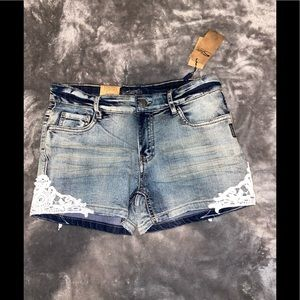 Silver jean shorts / Brand new with tags/so cute